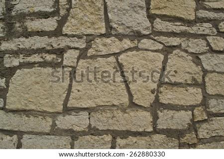 Background, texture. Old broken brick wall #262880330