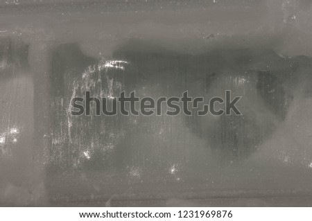 background texture pattern. Ice out of the water. abundant on the surface of the Earth - especially in the polar regions and above the snow track and as a usual form of precipitation and precipitation #1231969876