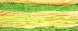 Background texture pattern, ornament, background, silk fabric, large strips of yellow green, separated by a strip of emerald gold, this fabric will decorate your design, you will be the best
