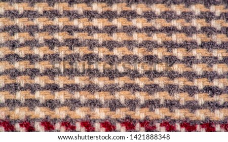 Background texture, pattern. The fabric is thick, warm in a cage, beige. This is 100% wool terry dressing. Sinil has a soft pile and is very versatile. #1421888348