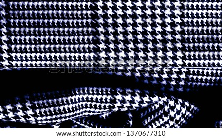 Background texture, pattern. The fabric is thick, warm with a checkered pattern, blue. Stop. You made the right choice by purchasing this photo, your design will be great with this image. #1370677310