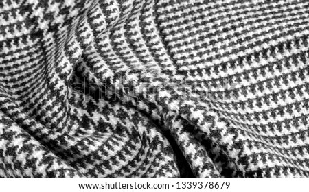 Background texture, pattern. The fabric is thick, warm with a checkered pattern, gray black. This is an unforgettable encounter with my fabric. The best design solutions are waiting for you. #1339378679