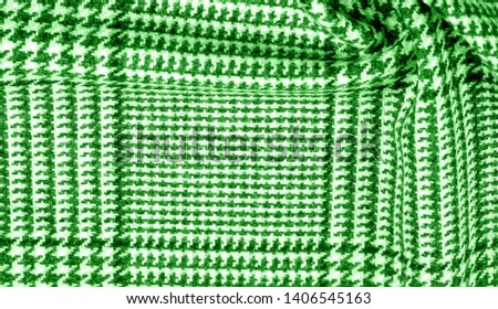 Background texture pattern. The fabric is thick, warm with a checkered pattern green This soft double damping with a light weight is ideal for design and more! Features yarn dyed checkered dark green #1406545163