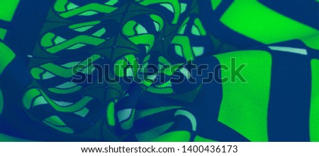 Background texture. silk bright fabric Mosaic geometric shapes Composition with colorful stained glass Grid design of green blue white olive colors #1400436173