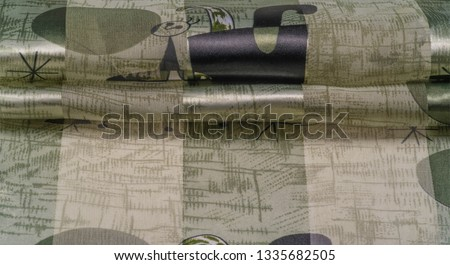 Background texture Universal georgette with a silk print, drawing cartoon people, your projects will be the best, creativity knows no bounds! dare to be the best