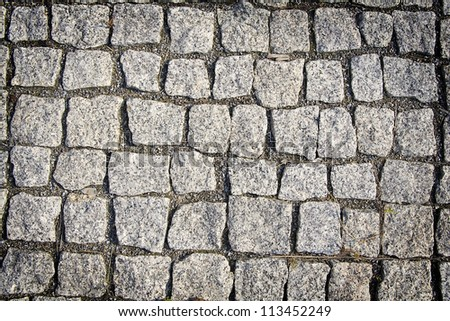 Background. The grey  texture of granite pavement - stock photo