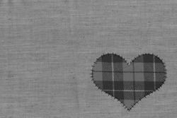 Background - the heart attached to threads