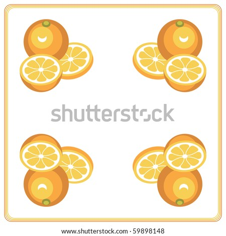 Background tile with simple oranges and slices