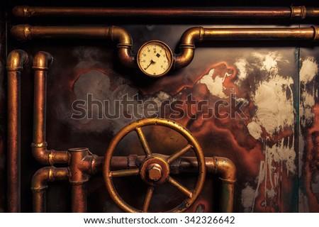 background vintage steampunk...