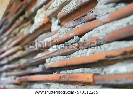 background wall with tiles #670112266