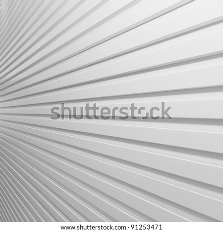background white plastic striped wall