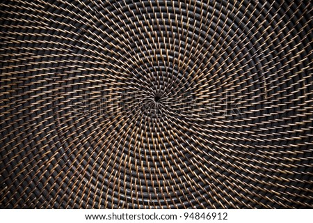 Background. Wicker texture. Circle