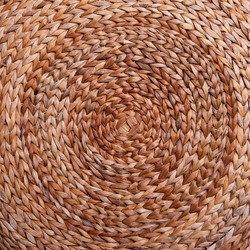 Background. Wicker texture has made from banana and rattan. Circle