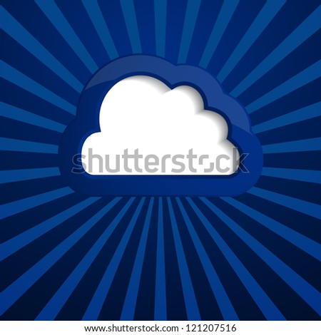 background with a cloud (raster version of the vector)