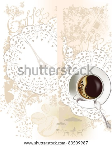 Background with a coffee-cup