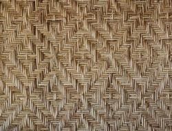 Background with a pattern of woven dry stalks, Kerala, Kochin
