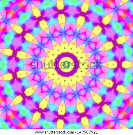 Background with abstract radial color pattern