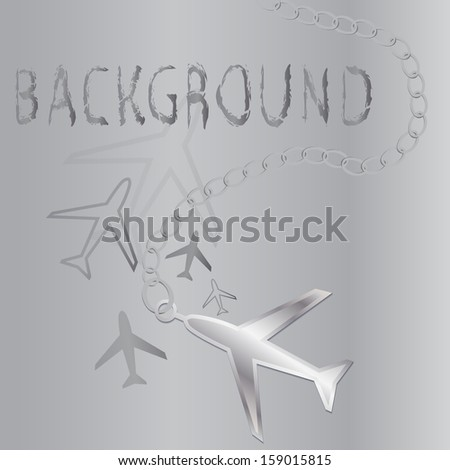 Background with airplane #159015815