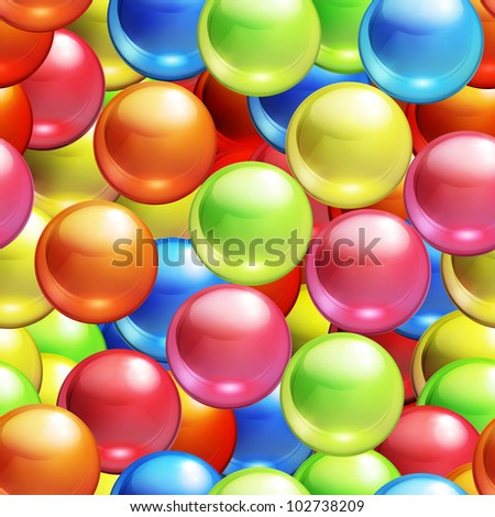 Background with balls seamless, bitmap copy