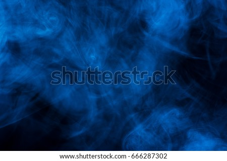 Background with blue smoke