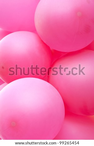 Background with bunch of pink balloons