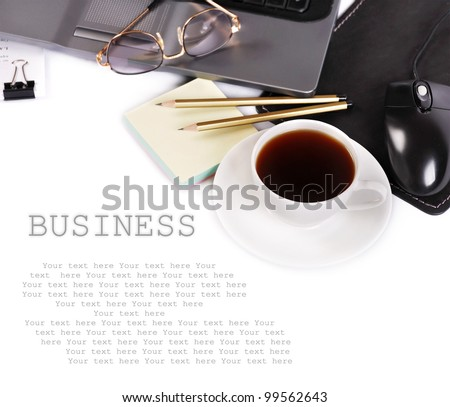 Background with business elements