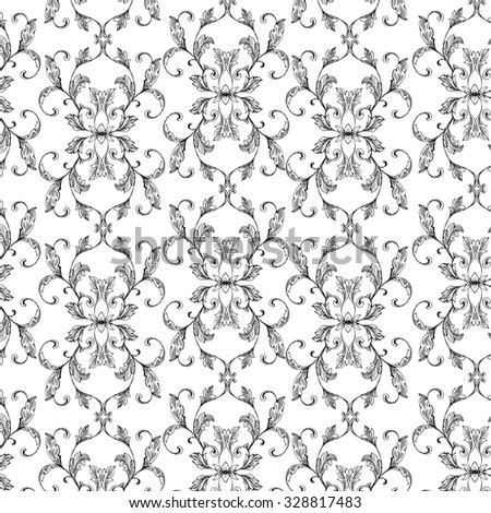 background with classic damask