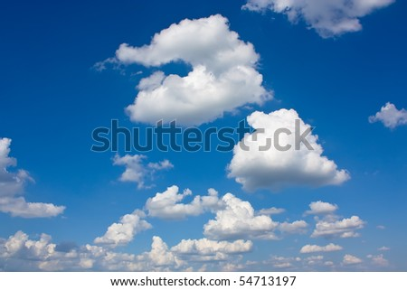 Background with clouds on the sky