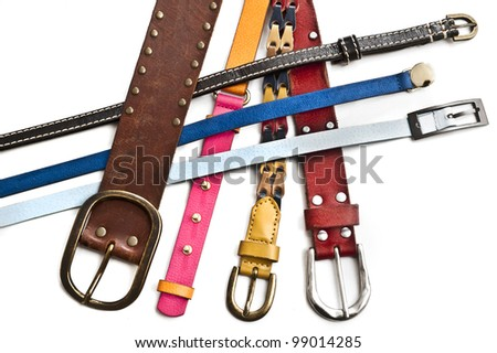 background with  colorful belts