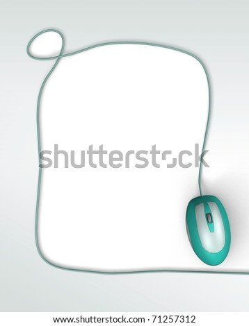 Background with computer mouse. 3d illustration
