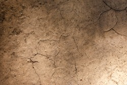 background with cracked earth. broke cracked earth with dust and orange leaves, textured background
