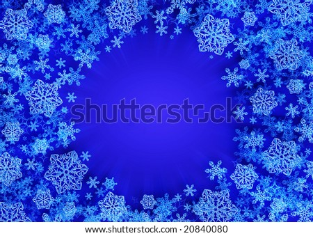 background with crystal snowflake