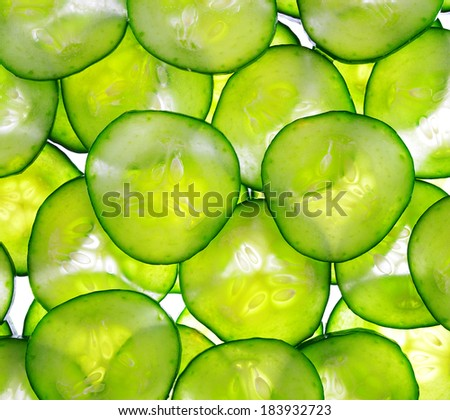 background with cucumbers #183932723
