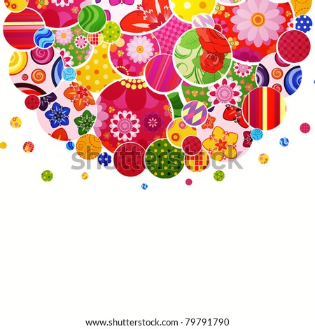 Background with floral and ornamental circles. #79791790