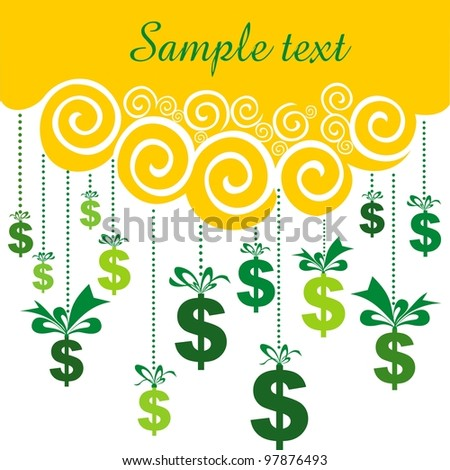 background with gift dollars and place for your text.  illustration
