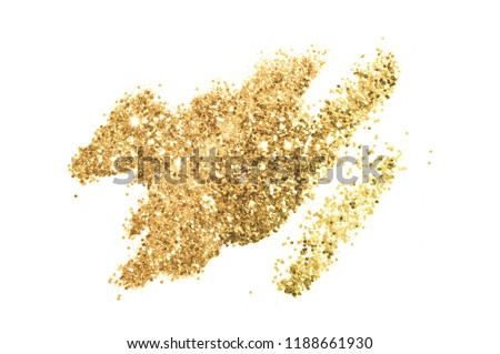 Background with gold glitter for your design