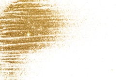 Background with gold glitter on white background for your design