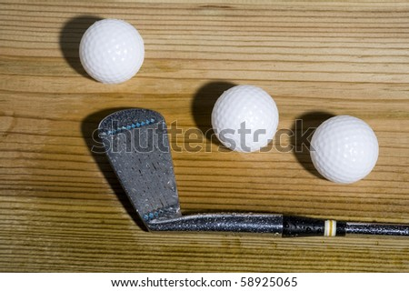Background with golf ball. Sport abstract