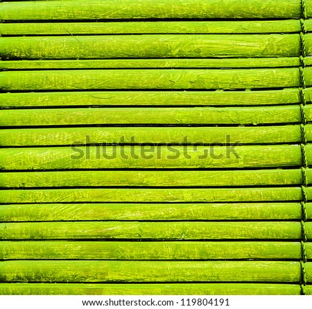 background with green bamboo mat