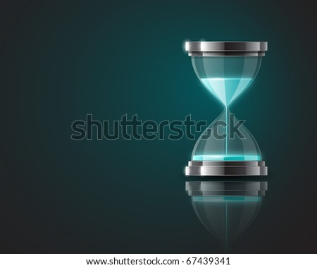 Background with hourglass