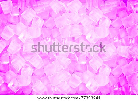 background with ice cubes in Pink light