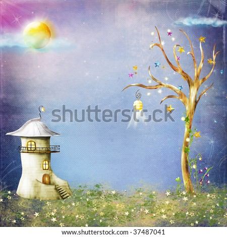 Background with illustration - stock photo