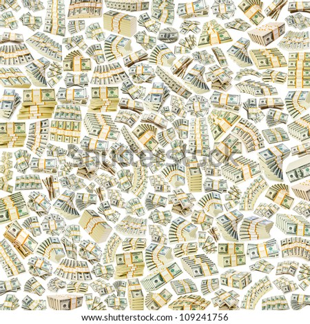 Background with lots of dollars - stock photo