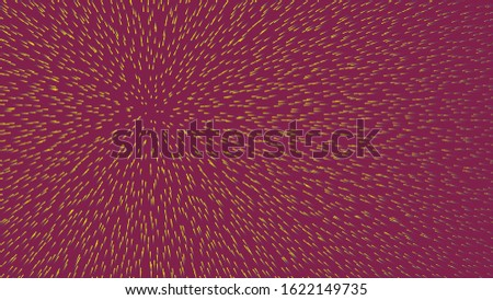 Background with many moving pointers. Animation. Abstract needles imagining centralized movement. Background for sharpening attention and concentration of vision