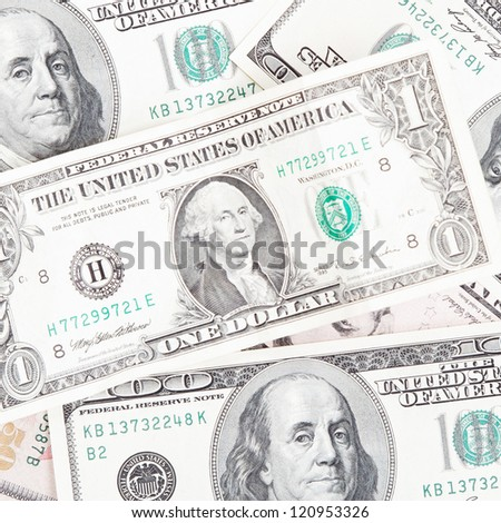Background with money american dollars bills.