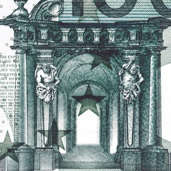 Background with money euro bill. Cash euro.