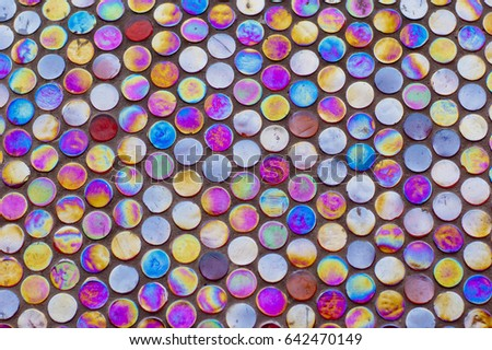Background with multicolored circles #642470149