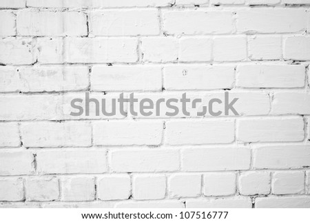 Background with old white painted brick wall