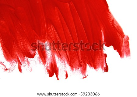 background with red brushstrokes on a white background