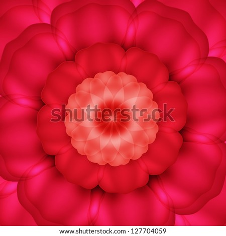 Background with red roses. Raster copy of vector image - stock photo